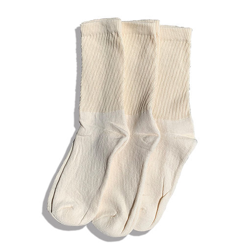 ORGANIC THREADS 3PACK ORGANIC REGURAR CREW SOCKS / CREAM