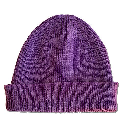 Cozy Cotton Beanie Purple