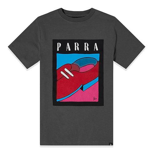 by Parra shoe repair t-shirt / asphalt grey
