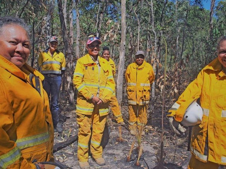 Girringun Aboriginal rangers conduct first women-only controlled burn to protect mahogany glider