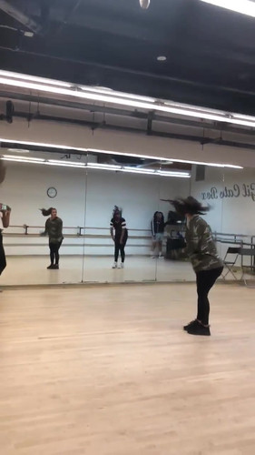 Cleopatra Pryce in class at the Debbie Allen Dance School (watch to see Debbie Allen at the end)