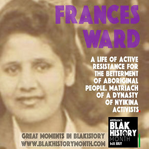 Frances Ward - founder of Blak History Month's Grandmother