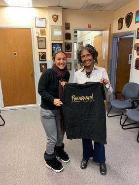 Meeting with the legendary, Joan Myers Brown, Director of Philadanco, West Philadelphia