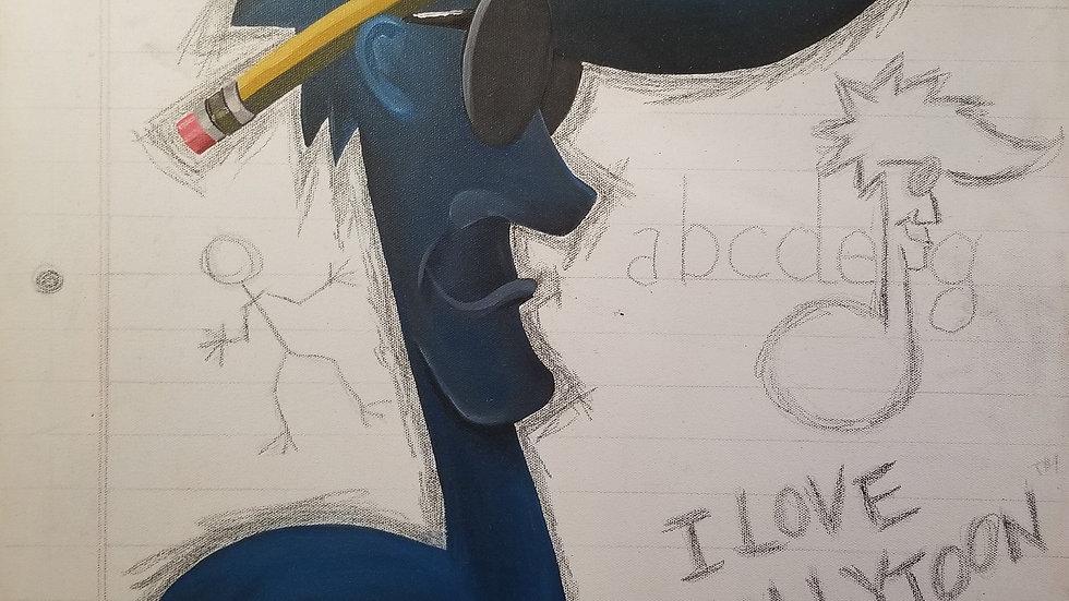 "Billytoon ""Mind Over Matter"" painting"