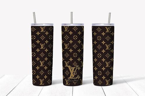 LV Skinny Tumbler - Louis Vuitton Inspired