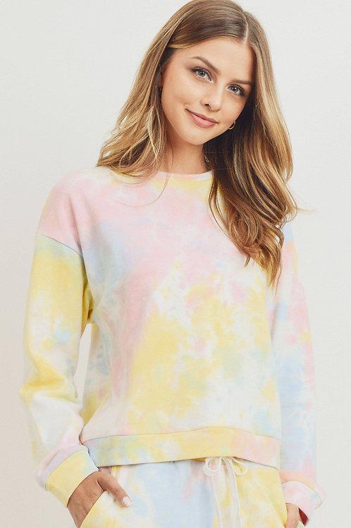 French Tie Dye Cozy Sweatshirt