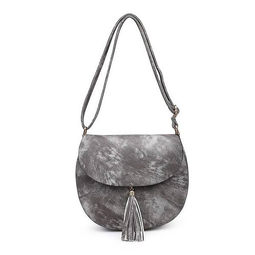 Grey Tassel Saddle Bag