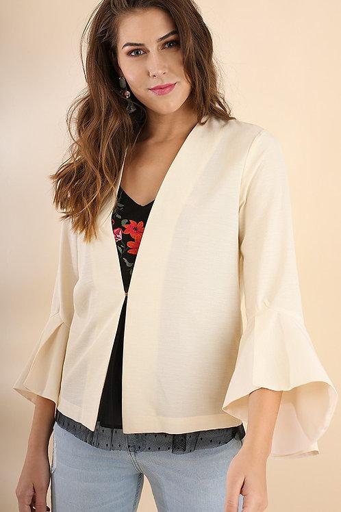 Cream Bell Sleeve Jacket