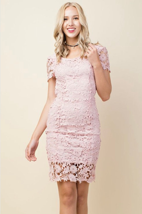 Lacey Blush dress