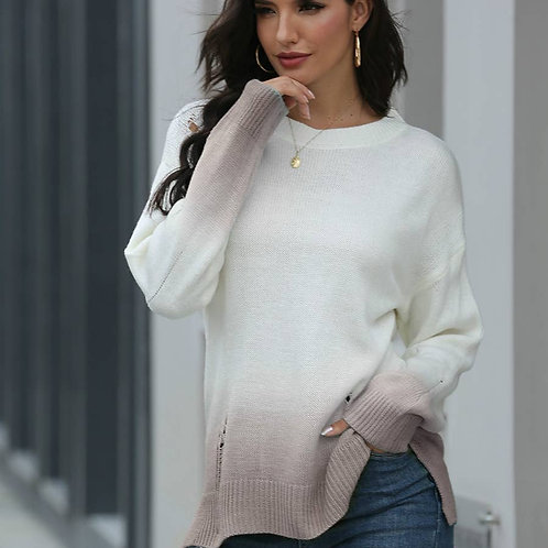 Ombre Distressed Sweater