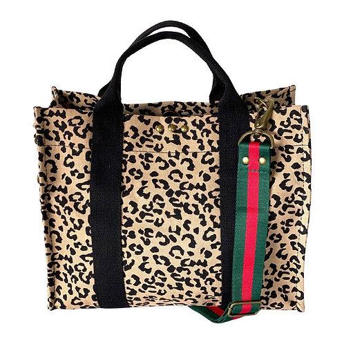 Leopard Canvas Tote