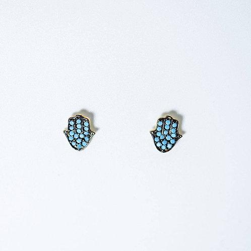 Hamsa Turquoise Earrings