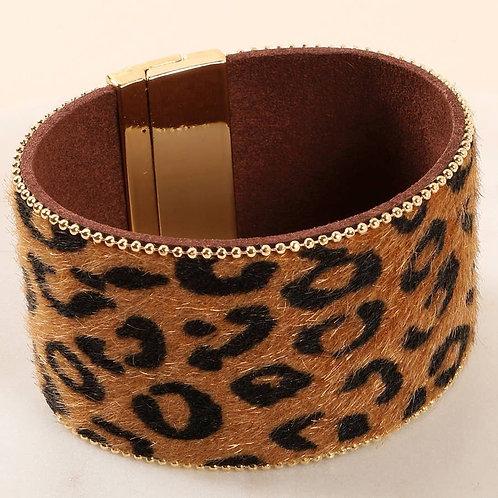 Thick Animal Print Bracelet