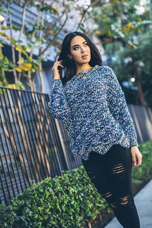 Oversize Crewneck Knit Sweater