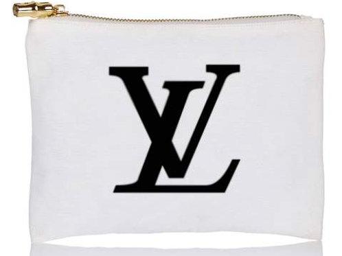 LV Designer Inspired Flat Zip Pouch