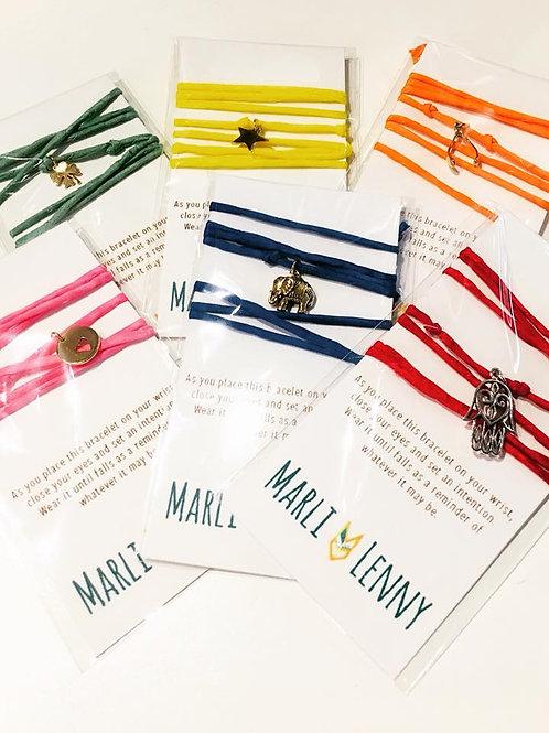 Silk Wrap Good Intention Bracelets