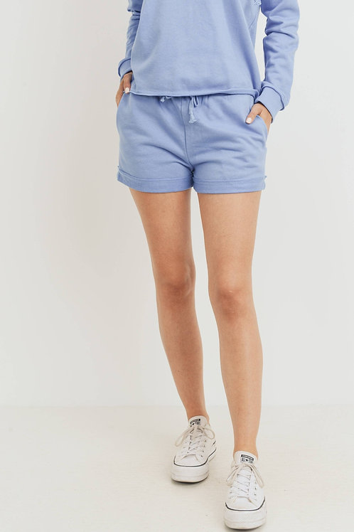 Blue Terry Shorts