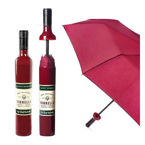 Burgundy Labeled Bottle Umbrella