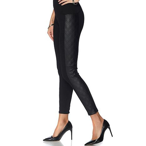 Quilted Leather Side legging