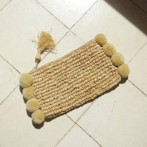 Canggu Woven Straw Clutch