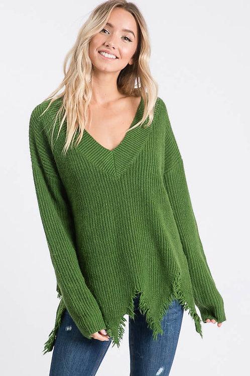 Rough Hem Sweater