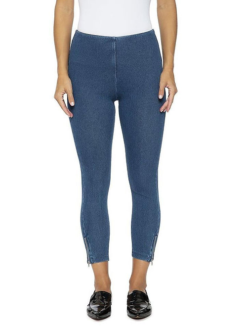 Mini Zip Denim Legging