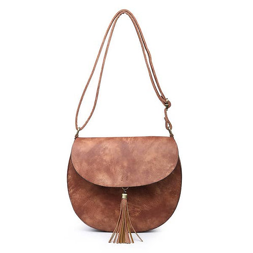 Rust Tassel Saddle Bag