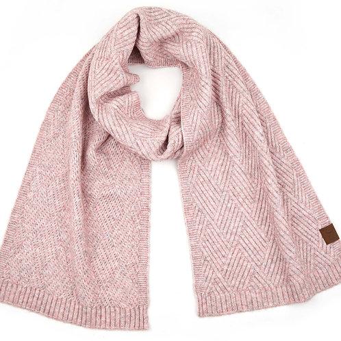 C.C Diagonal Knit Scarf