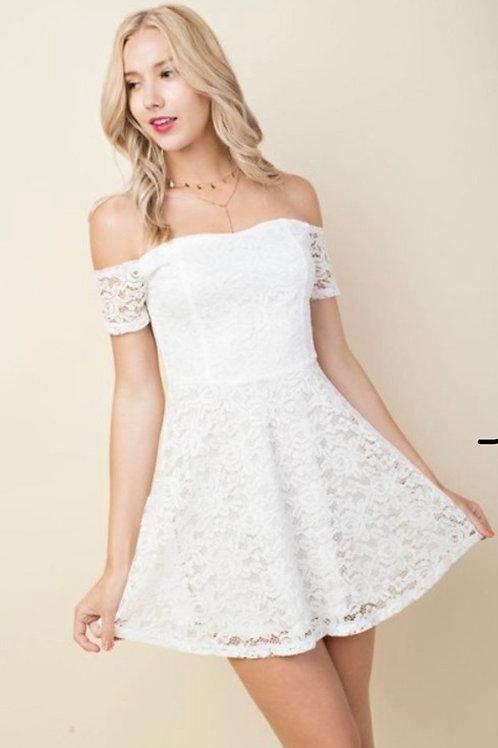 Lace Sweatheart Dress