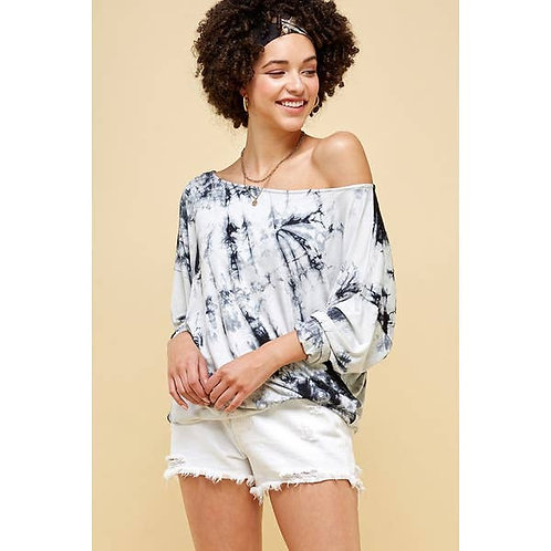 Tie Dye Relaxed Knit Top