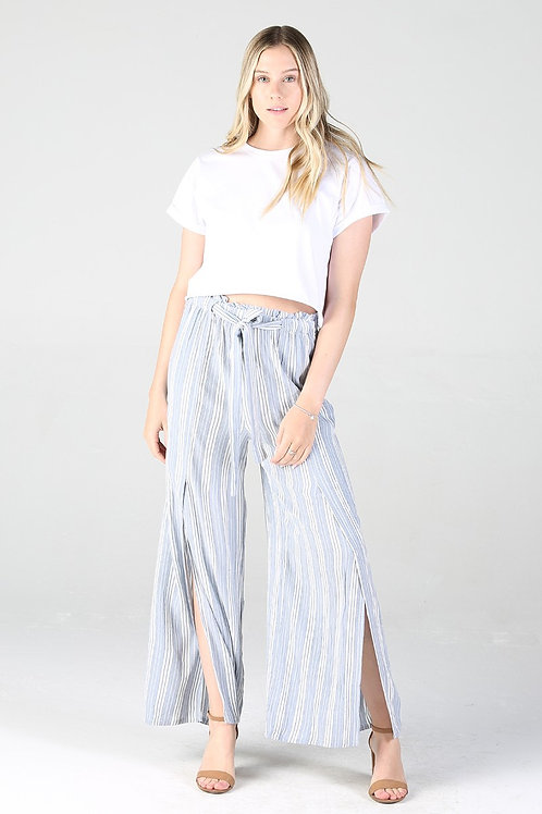 Wide Leg Pant with Slit