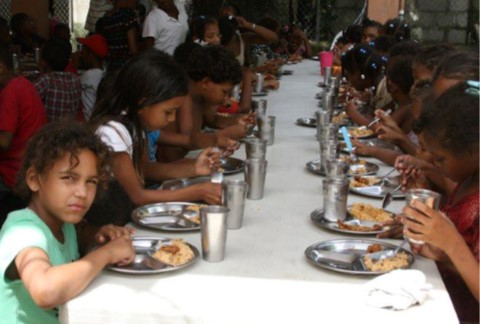 Facility provided to feed children