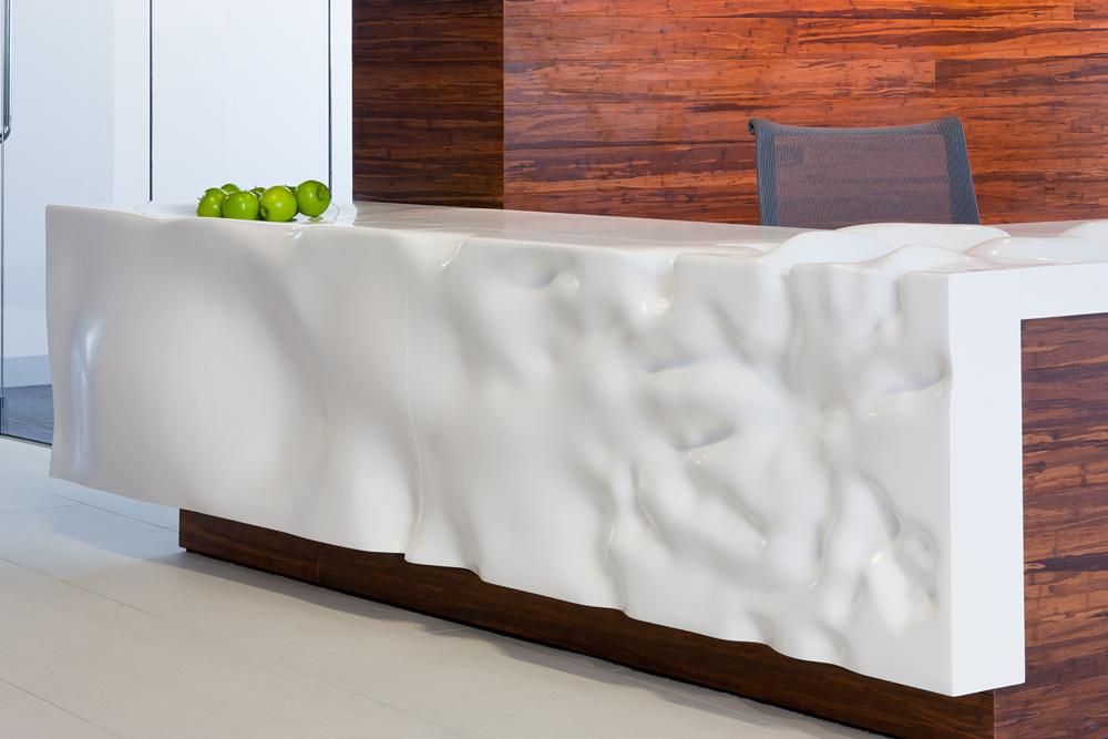 Sculpted Reception Desk
