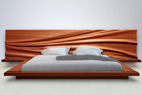 Wave Bed with Night Stands