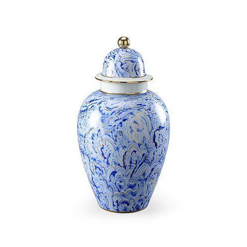 Marbelized Covered Urn (Lg)