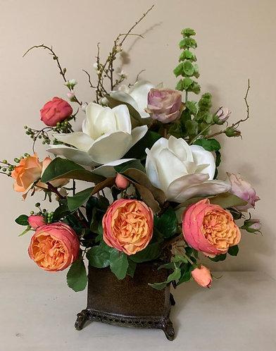 Magnolia & Peony Centerpiece