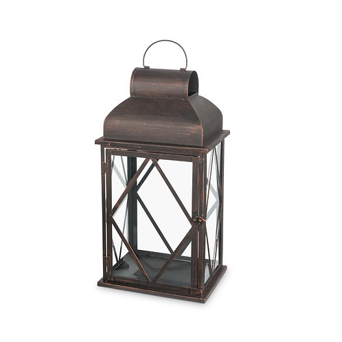 Set of 2 Bronze Metal Lanterns