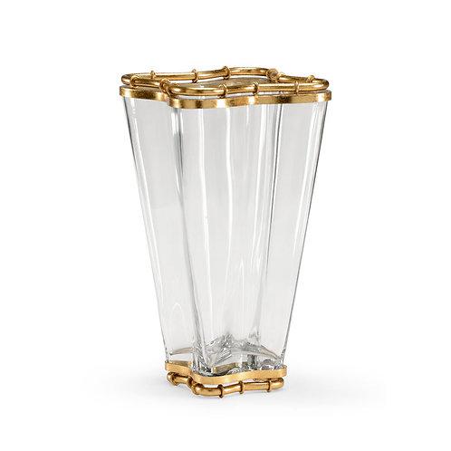 Scalloped Bamboo Vase