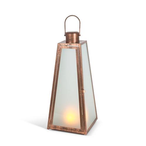 """20.9"""" Copper Fire Glow Lantern"""