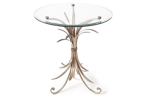 ANTIQUE SILVER WHEAT TABLE