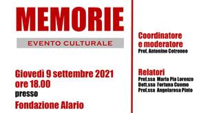 MEMORIE | Evento Culturale