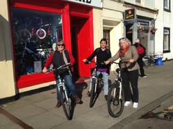 Bike ride with Kathleen Adams & Inge Sco