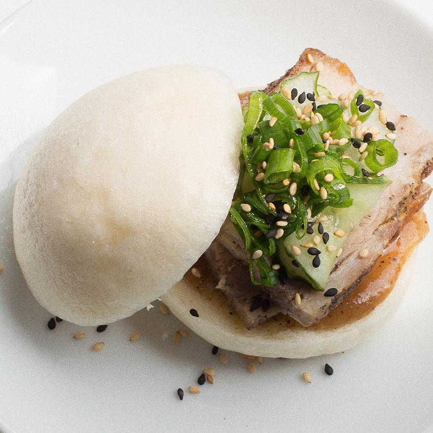 Lemon & Herb Pulled Chicken in a Brioche Bun