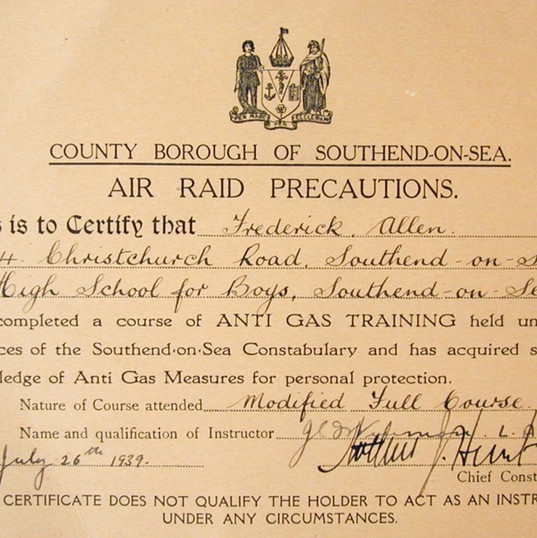 Southend Anti Gas Training Certificate.j