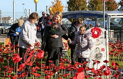 Blade Education's poppy garden at Southend airport