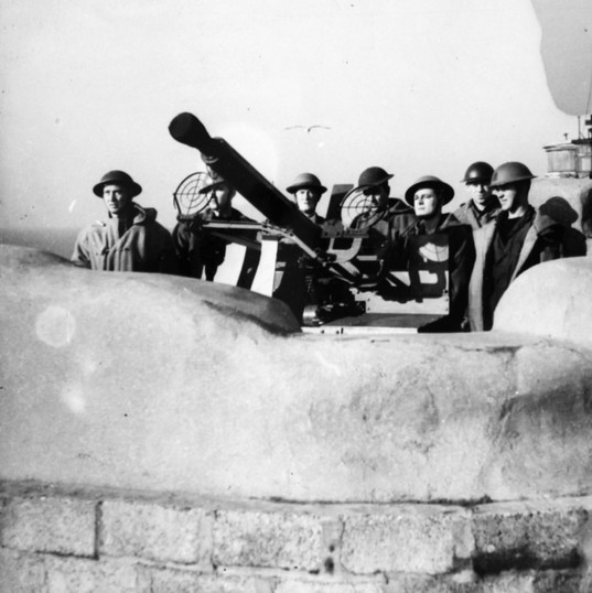 Anti Aircraft Gun Emplacement on HMS Lei