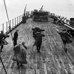 Anti Aircraft Gun Emplacement on HMS Lei