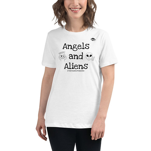 Angels and Aliens - Women's Relaxed T-Shirt