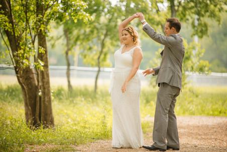 Outdoor Dance-Bride and Groom