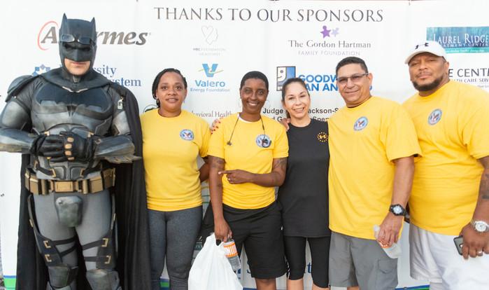 Batman of San Antonio joins walkers at M